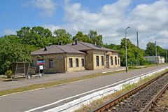 POLESSK, RUSSIA. View of the railway station Royalty Free Stock Photos