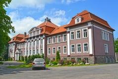 POLESSK RYSSLAND Kaliningrad filial av St Petersburg det statliga jordbruks- universitetet Arkivfoto