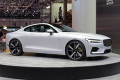 88th Geneva International Motor Show 2018 - Polestar 1. Polestar, which is Volvo`s electric performance brand, has showcased the Polestar 1, which is its first Stock Photography