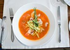 polewka rybi restauracyjny stół Zdjęcia Stock