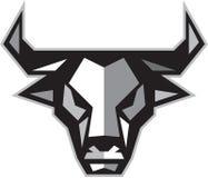 Polígono da cabeça da vaca de Bull baixo Fotografia de Stock Royalty Free