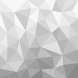 Polígono Greyscale do fundo Imagens de Stock Royalty Free