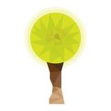 Poli albero basso Albero poligonale basso concettuale stilizzato marchio Simbolo royalty illustrazione gratis