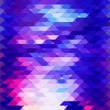 Poli basso porpora del mosaico del fondo Fotografie Stock