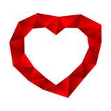 Poli cuore basso su fondo bianco Immagini Stock