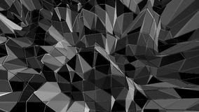Poli 3D d'ondeggiamento basso in bianco e nero pulito astratto di superficie come contesto piacevole Ambiente di vibrazione geome illustrazione vettoriale