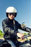 Poli de motocicleta Foto de archivo libre de regalías