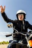 Poli de motocicleta Foto de archivo