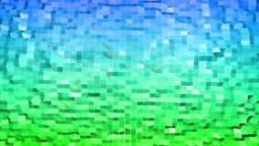 Poli fondo astratto basso con i colori moderni di pendenza Superficie di verde blu 3d V2 Fotografia Stock