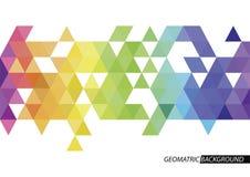 Poli fondo astratto basso di colore del triangolo Illustrazione di vettore Royalty Illustrazione gratis