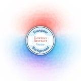 Poli fondo astratto basso Struttura poligonale blu ed arancio Immagini Stock