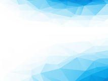 Poli fondo astratto blu e bianco basso per le presentazioni Immagini Stock Libere da Diritti