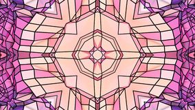 Poli fondo astratto geometrico basso come un vetro macchiato o effetto commovente del caleidoscopio in 4k Animazione del ciclo 3d video d archivio