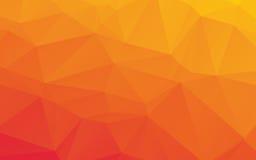 Poli fondo basso astratto arancio di vettore Fotografia Stock Libera da Diritti