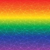 Poli fondo basso astratto di colore dell'arcobaleno Fotografia Stock Libera da Diritti