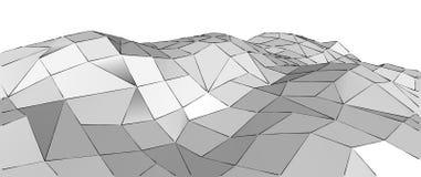 Poli fondo basso geometrico grigio astratto 3d Immagine Stock Libera da Diritti