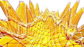 Poli fondo basso giallo che palpita Poli superficie bassa astratta come maglia di cristallo nella poli progettazione bassa alla m illustrazione vettoriale