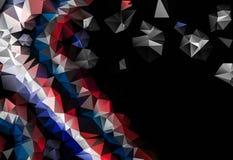 Poli fondo nero e rosso astratto basso che consiste dei triangoli illustrazione di stock