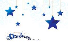 Poli illustrazione bassa di vettore delle stelle di Buon Natale Fotografia Stock Libera da Diritti