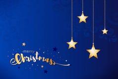 Poli illustrazione bassa di vettore delle stelle di Buon Natale Immagine Stock