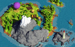 Poli isola bassa Immagine Stock