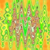 Poli manifesto basso moderno sul contesto leggero Ornamento a strisce geometrico Modello di zigzag etnico Illustrazione di Stock