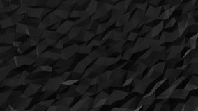 Poli modello basso fluido nero astratto illustrazione vettoriale