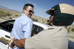 Poli que arresta al hombre envejecido centro fotografía de archivo libre de regalías