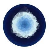 Poli stile basso geometrico astratto blu Immagine Stock Libera da Diritti