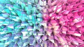 Poli superficie bassa 3D con la griglia o la maglia di volo e sfere commoventi come fondo del fumetto Poli basso geometrico morbi royalty illustrazione gratis