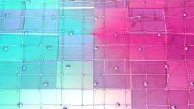 Poli superficie bassa 3D con la griglia o la maglia di volo e sfere commoventi come fondo del gioco del fumetto Poli basso geomet illustrazione vettoriale