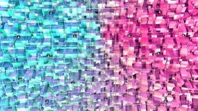 Poli superficie bassa 3D con la griglia o la maglia di volo e sfere nere come fondo del fumetto Poli fondo basso geometrico molle illustrazione di stock