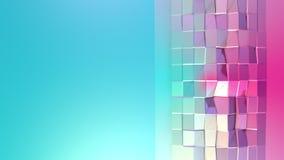 Poli superficie bassa rosa blu semplice astratta 3D come ambiente futuristico Poli fondo basso molle di moto di spostamento illustrazione vettoriale
