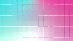Poli superficie bassa rosa blu semplice astratta 3D come cellula di cristallo Poli fondo basso geometrico molle di moto di sposta illustrazione vettoriale