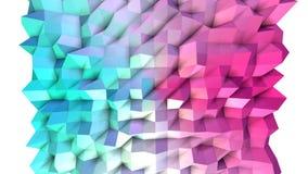 Poli superficie bassa rosa blu semplice astratta 3D come fondo semplice Poli fondo basso geometrico molle di moto di illustrazione vettoriale