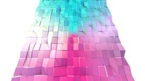 Poli superficie bassa rosa blu semplice astratta 3D come fondo cibernetico Poli fondo basso geometrico molle di moto di illustrazione di stock