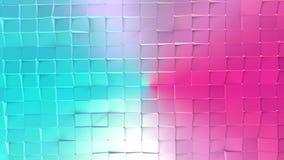 Poli superficie bassa rosa blu semplice astratta 3D come fondo cyber Poli fondo basso geometrico molle di moto di spostamento royalty illustrazione gratis