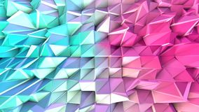 Poli superficie bassa rosa blu semplice astratta 3D come fondo di frattale Poli fondo basso geometrico molle di moto di royalty illustrazione gratis