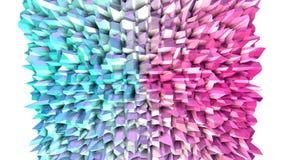 Poli superficie bassa rosa blu semplice astratta 3D come fondo elegante Poli fondo basso geometrico molle di moto di illustrazione di stock