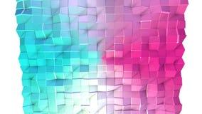 Poli superficie bassa rosa blu semplice astratta 3D come fondo molecolare Poli fondo basso geometrico molle di moto di royalty illustrazione gratis