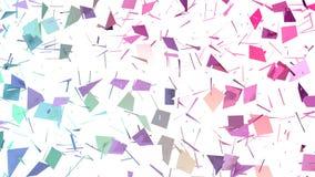 Poli superficie bassa rosa blu semplice astratta di spaccatura 3D come griglia di cristallo Poli fondo basso geometrico molle di  royalty illustrazione gratis