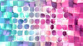 Poli superficie bassa rosa blu semplice astratta di spaccatura 3D e cristalli bianchi volanti come maglia di cristallo Poli basso illustrazione vettoriale
