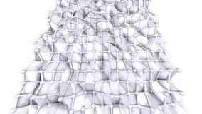 Poli superficie bassa semplice 3D come ambiente chimico Poli fondo basso geometrico molle dei poligoni grigi bianchi puri 4K illustrazione di stock