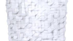 Poli superficie bassa semplice 3D come sollievo futuristico Poli fondo basso geometrico molle dei poligoni grigi bianchi puri 4K  illustrazione di stock