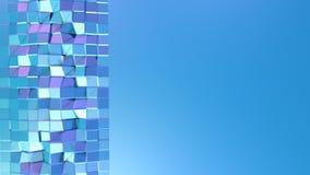 Poli superficie bassa viola blu semplice astratta 3D come cellula di cristallo Poli fondo basso geometrico molle di moto con puro illustrazione di stock