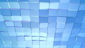 Poli superficie bassa viola blu semplice astratta 3D come fondo alla moda 3D Poli fondo basso geometrico molle di moto di illustrazione vettoriale
