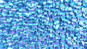 Poli superficie bassa viola blu semplice astratta 3D come fondo alta tecnologia Poli fondo basso geometrico molle di moto di illustrazione vettoriale