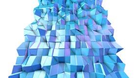 Poli superficie bassa viola blu semplice astratta 3D come fondo d'avanguardia Poli fondo basso geometrico molle di moto di illustrazione vettoriale