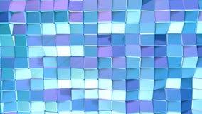 Poli superficie bassa viola blu semplice astratta 3D come fondo creativo Poli fondo basso geometrico molle di moto di royalty illustrazione gratis