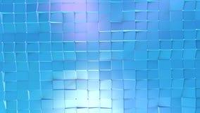 Poli superficie bassa viola blu semplice astratta 3D come fondo di arte Poli fondo basso geometrico molle di moto di spostamento illustrazione di stock